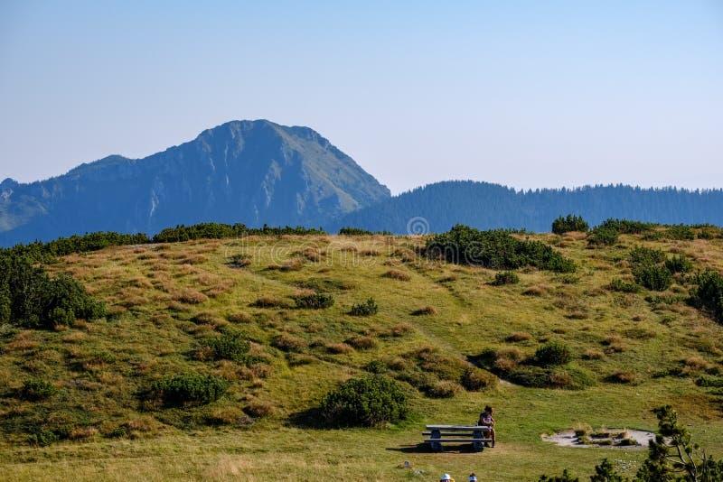 Odlegli gór sedno w Slovakia Tatrzańskich halnych śladach obrazy stock