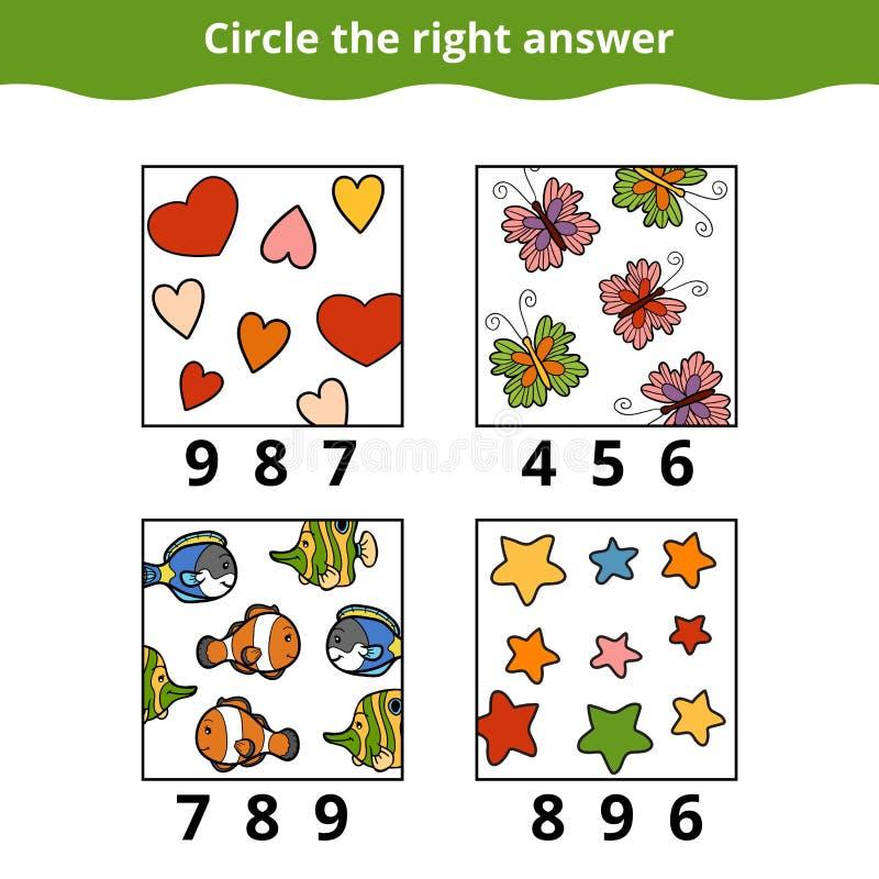 Odliczająca gra dla Preschool dzieci royalty ilustracja
