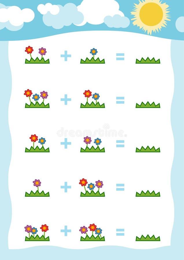 Odliczająca gra dla Preschool dzieci Liczy liczby royalty ilustracja