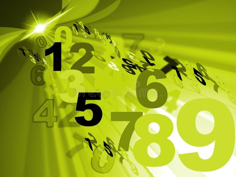 Odliczający Numeryczny I Mathematics Reprezentujemy Numerowego projekt royalty ilustracja