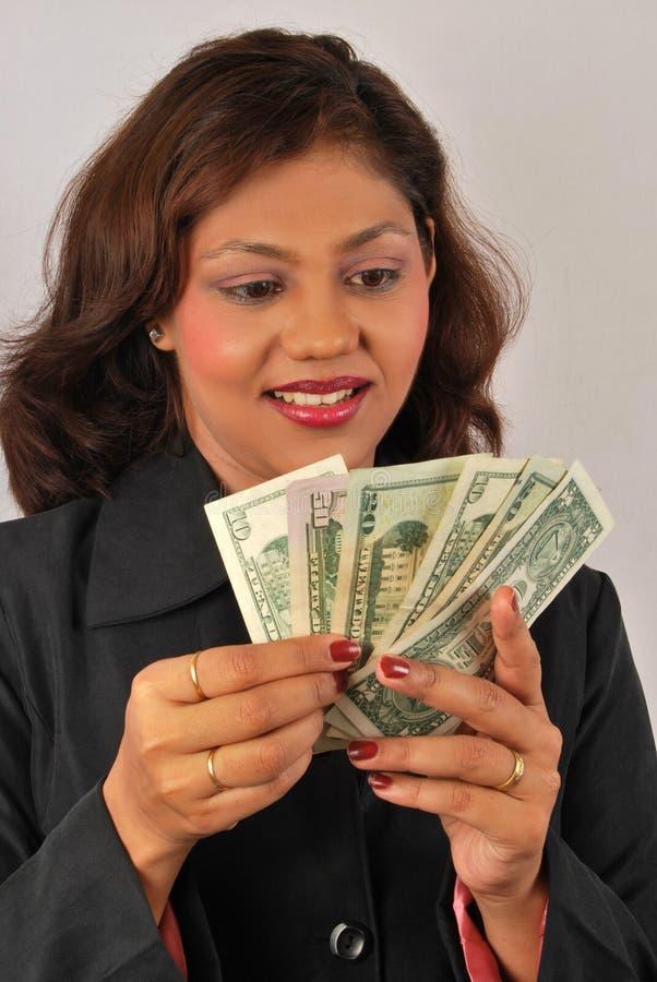 odliczający pieniądze obraz stock