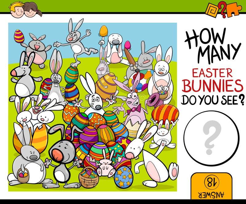Odliczający zadanie z Easter królikiem ilustracji