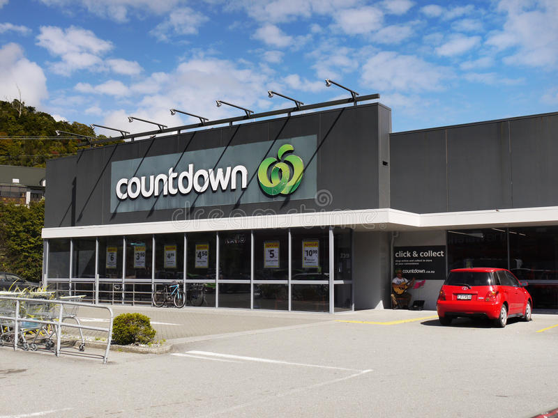 Odliczanie supermarket, Nowa Zelandia fotografia royalty free