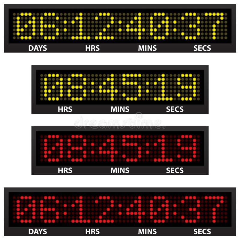 odliczanie zegar ilustracja wektor