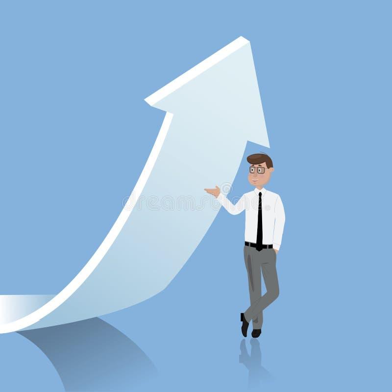 Odmienianie kierunek Biznesowa poj?cie wektoru ilustracja royalty ilustracja