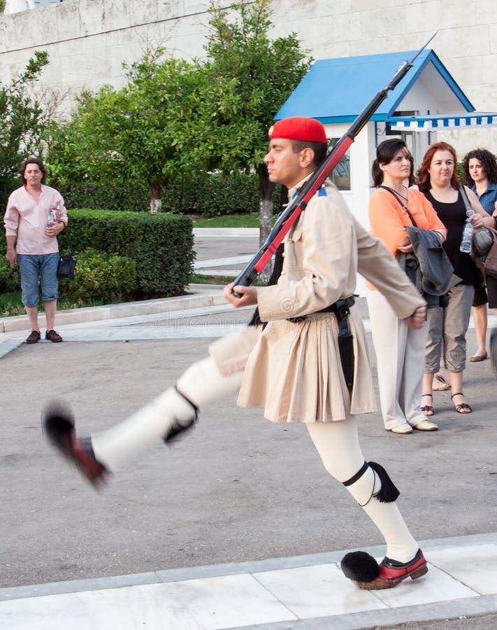 Odmienianie strażnicy Ateny zdjęcia royalty free