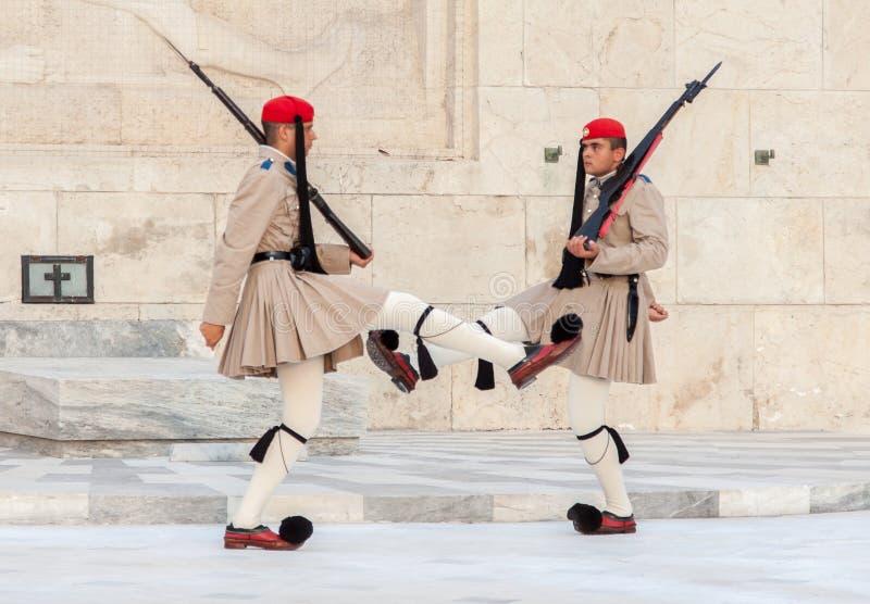 Odmienianie strażnicy Ateny fotografia stock