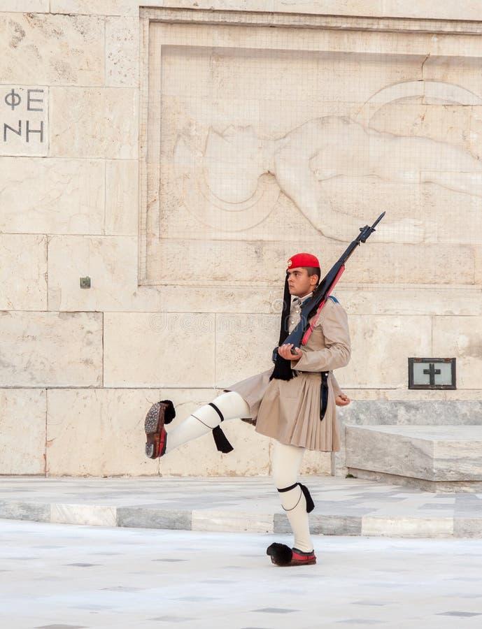 Odmienianie strażnicy Ateny zdjęcia stock