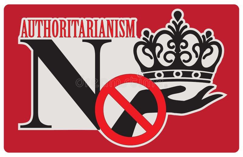 Odmowa autorytaryzm ilustracji