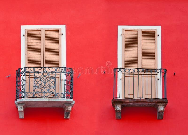 Dwa balkonu fotografia royalty free