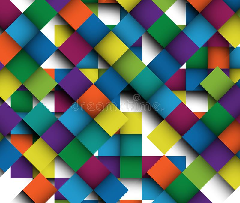 Odnawia kolorowy deseniowy wielki obrazek z cieniem wszystkie kontrasta obrazek ilustracja wektor