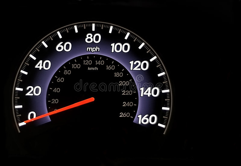 Odometer. An automobile odometer with copy space all around royalty free stock photos