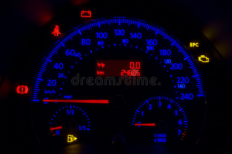 Download Odometer stock image. Image of flash, instrument, automobile - 4087835