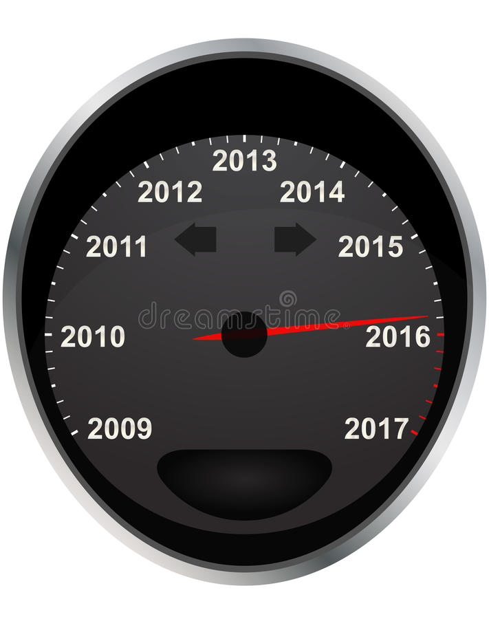 2016 odometer stock illustration
