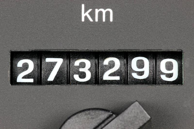 Odometer van gebruikte auto royalty-vrije stock afbeeldingen