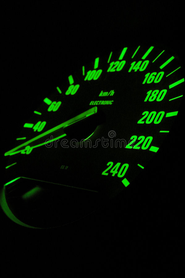 Odometro europeo dell'automobile sportiva fotografia stock