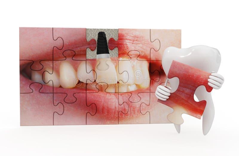 Odontologia engraçada ilustração stock