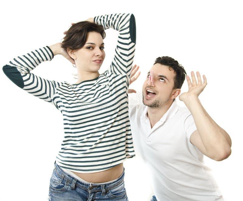 Odor mau das mulheres fotografia de stock royalty free