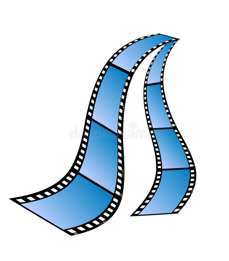 odosobneni filmów lampasy royalty ilustracja