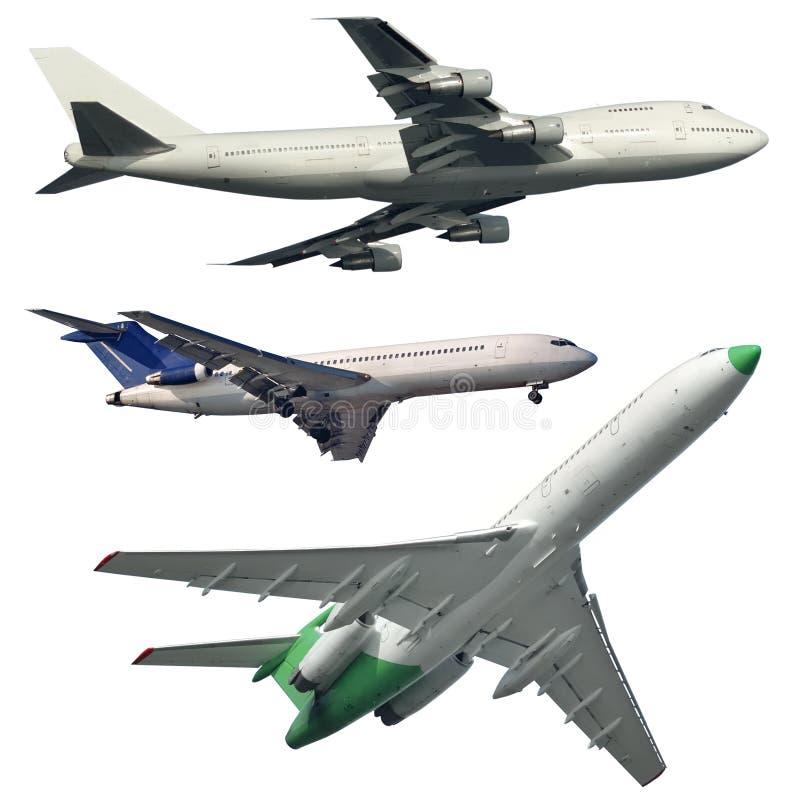 Odosobneni Pasażerscy samoloty fotografia royalty free