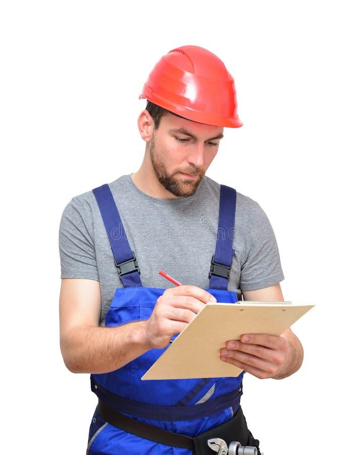 Odosobneni rzemieślnika pracownika budowlanego asembler robociarzi - frien zdjęcia royalty free