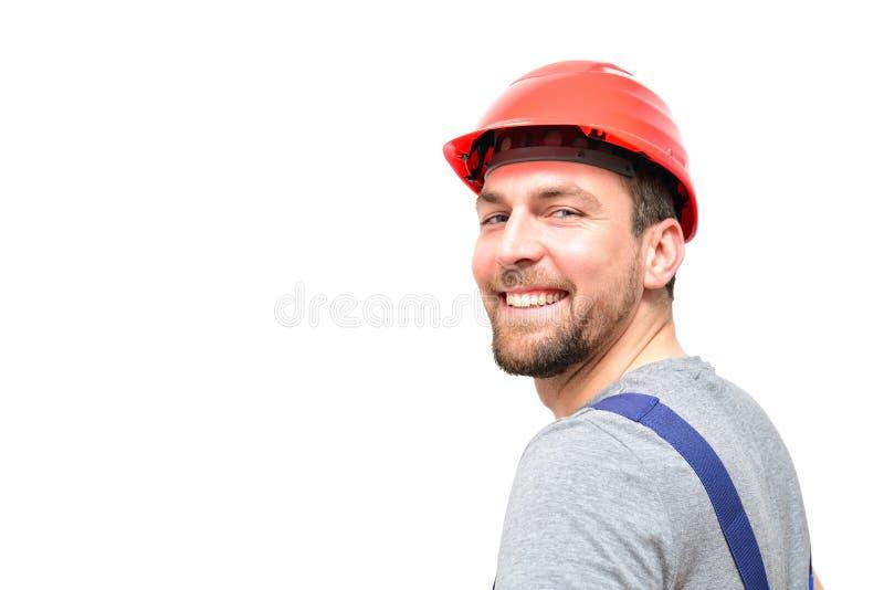 Odosobneni rzemieślnika pracownika budowlanego asembler robociarzi - frien obraz stock