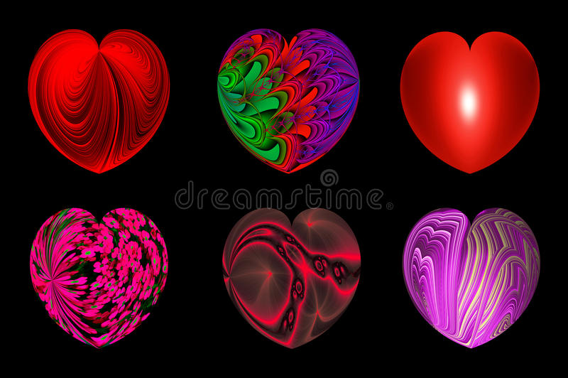 Odosobneni serca dla twój projekta. set 3. ilustracja wektor