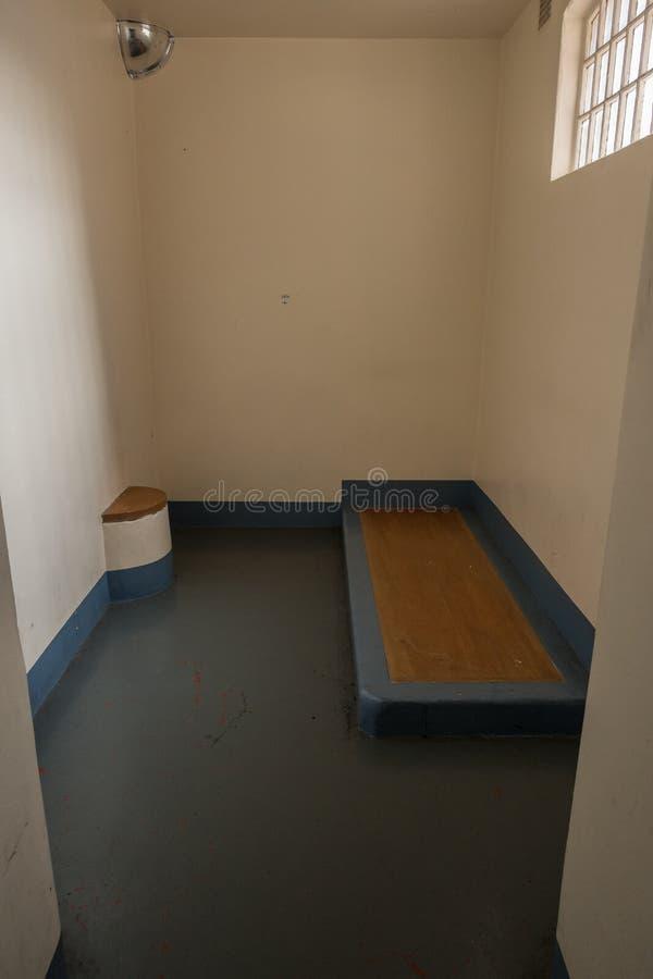 Odosobnienie komórka w HMP Shrewsbury więzieniu Dana obraz stock
