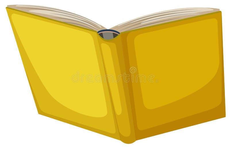 Odosobniona żółta książka na białym tle royalty ilustracja