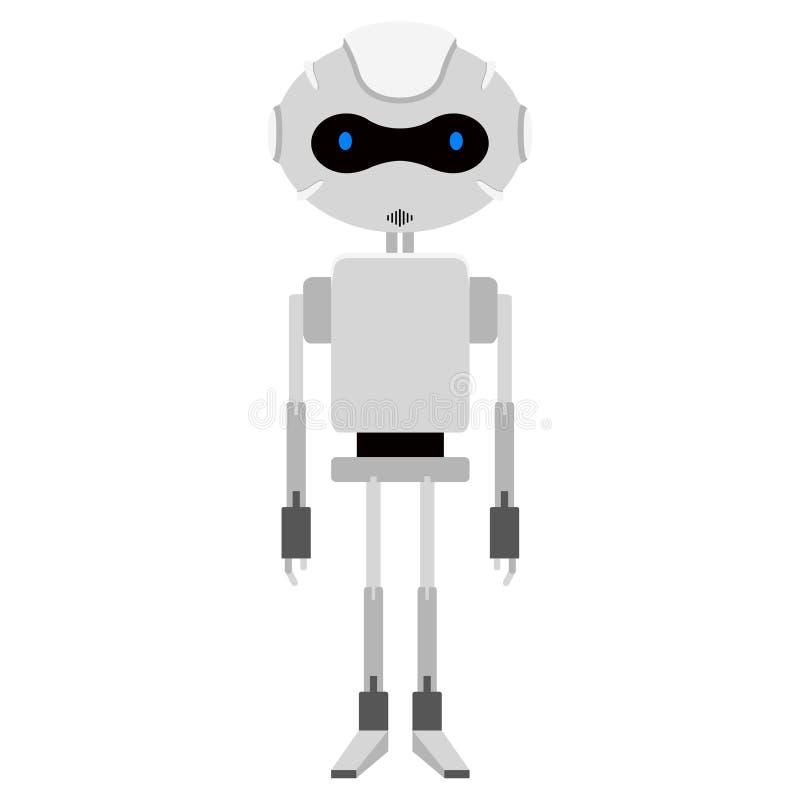 Odosobniona śliczna android ikona ilustracja wektor