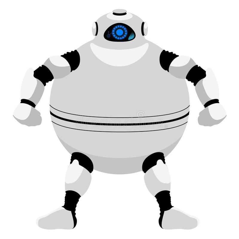 Odosobniona śliczna android ikona ilustracji