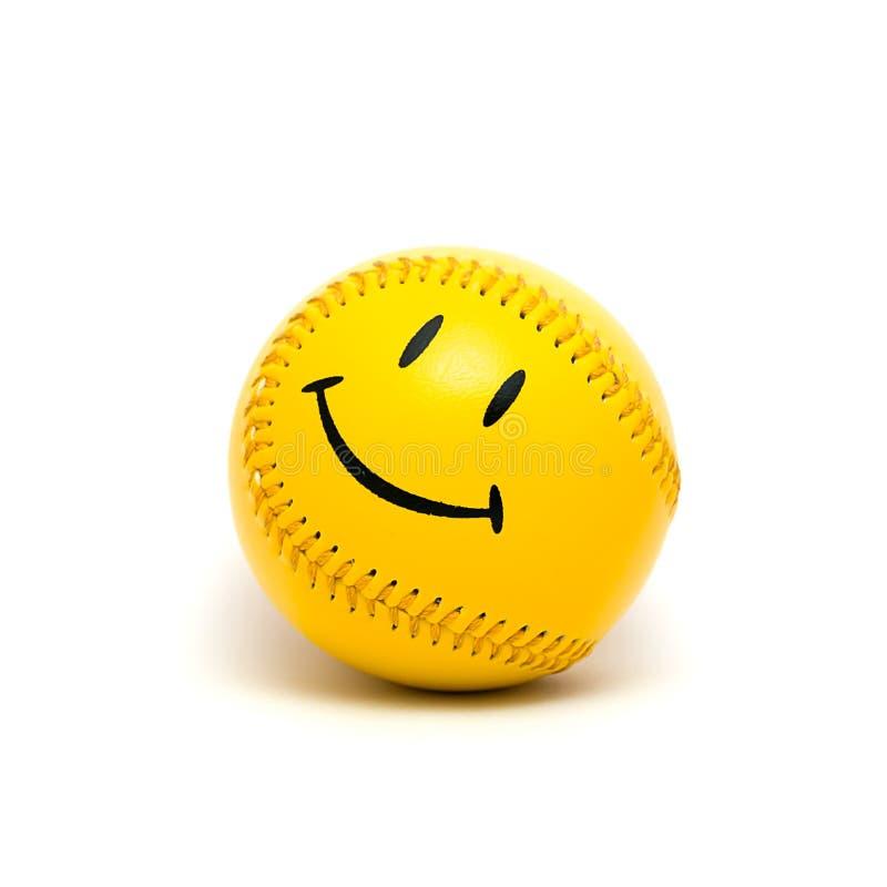 Odosobniona żółta piłka obrazy royalty free