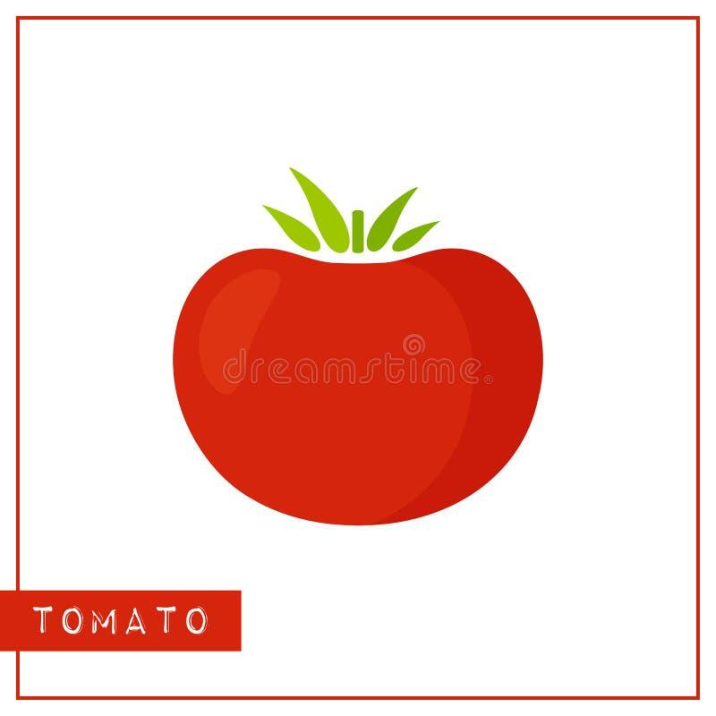Odosobniona żywa czerwona pomidorowa pamięci szkolenia karta royalty ilustracja