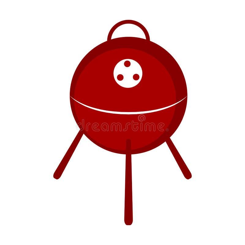 Odosobniona bbq grilla ikona royalty ilustracja