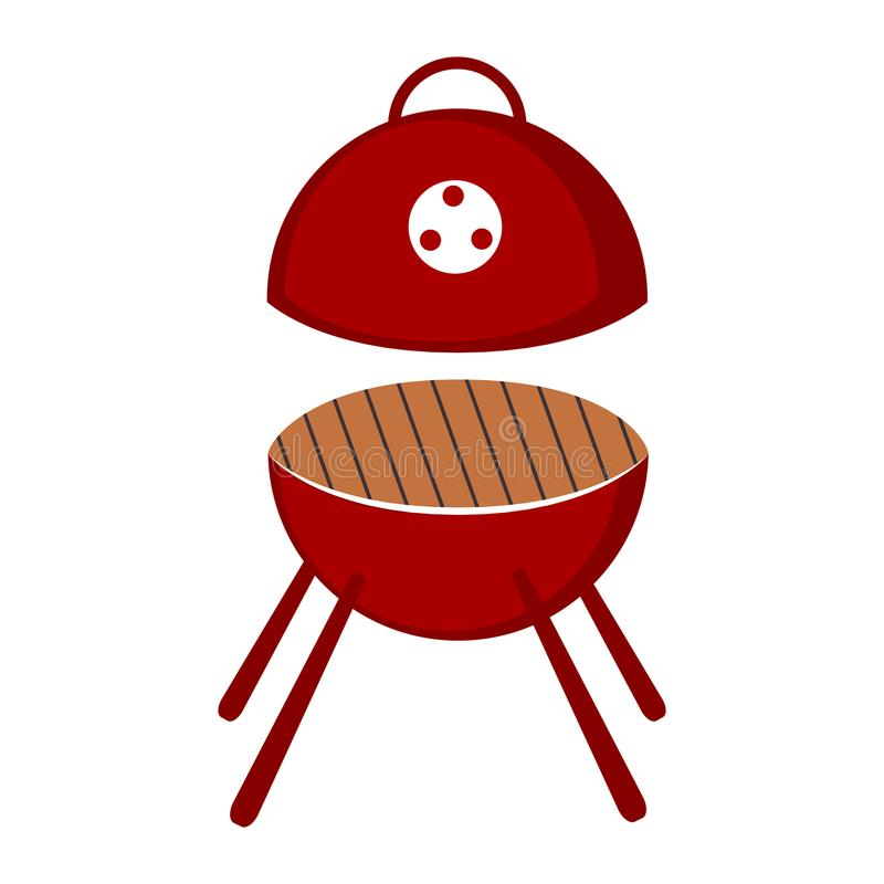Odosobniona bbq grilla ikona ilustracji
