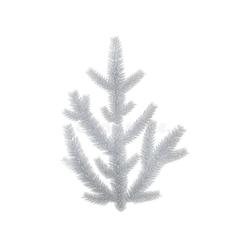 Odosobniona biel gałąź dla Bożenarodzeniowej dekoraci ilustracja wektor