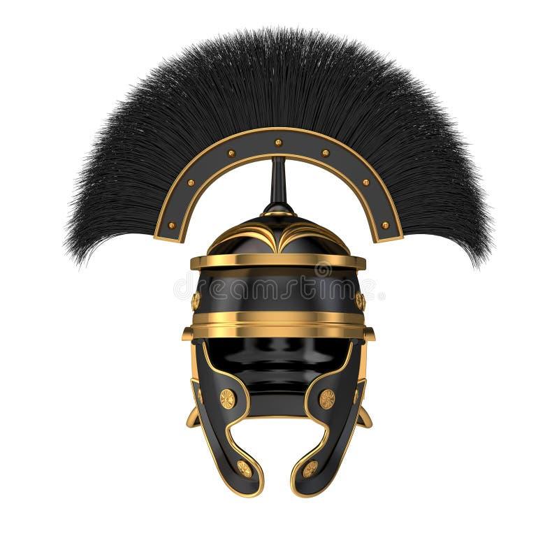 Odosobniona 3d ilustracja Romański hełm royalty ilustracja