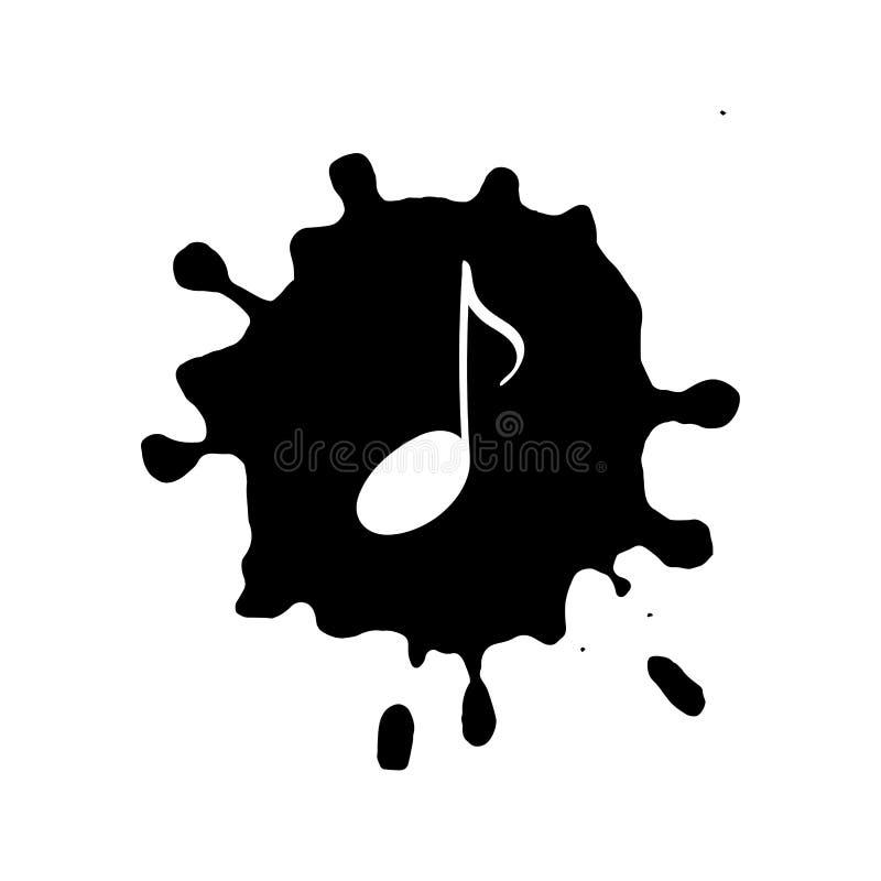 Odosobniona doodle muzycznego symbolu notatka ilustracja wektor