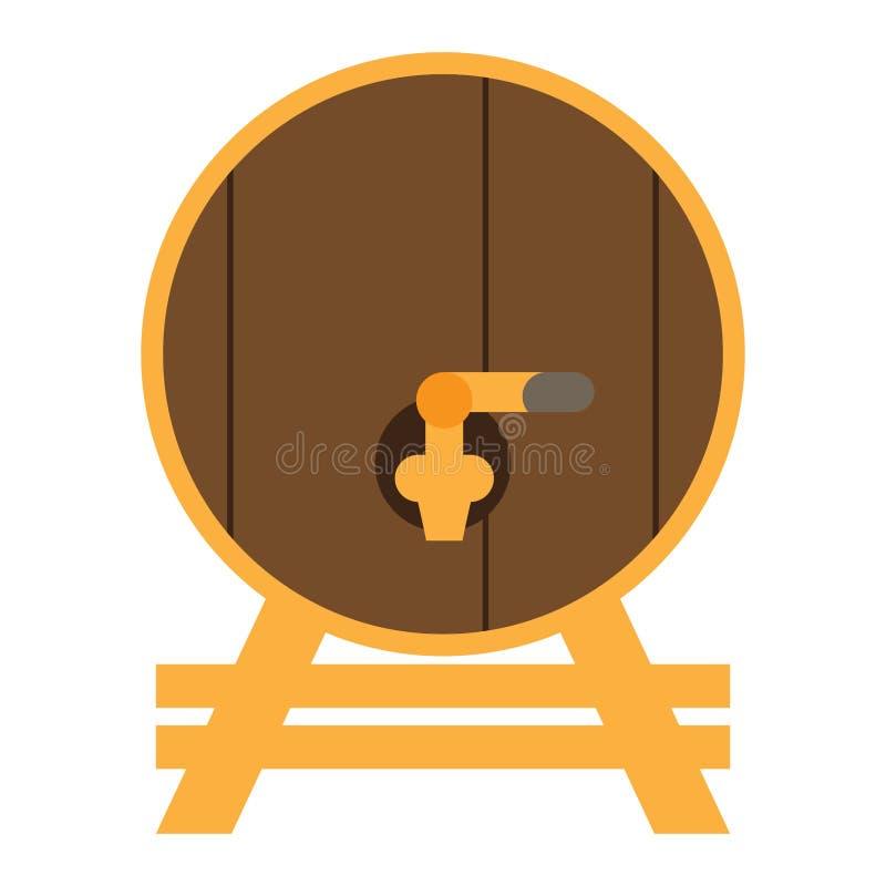 Odosobniona drewniana piwna baryłka ilustracji