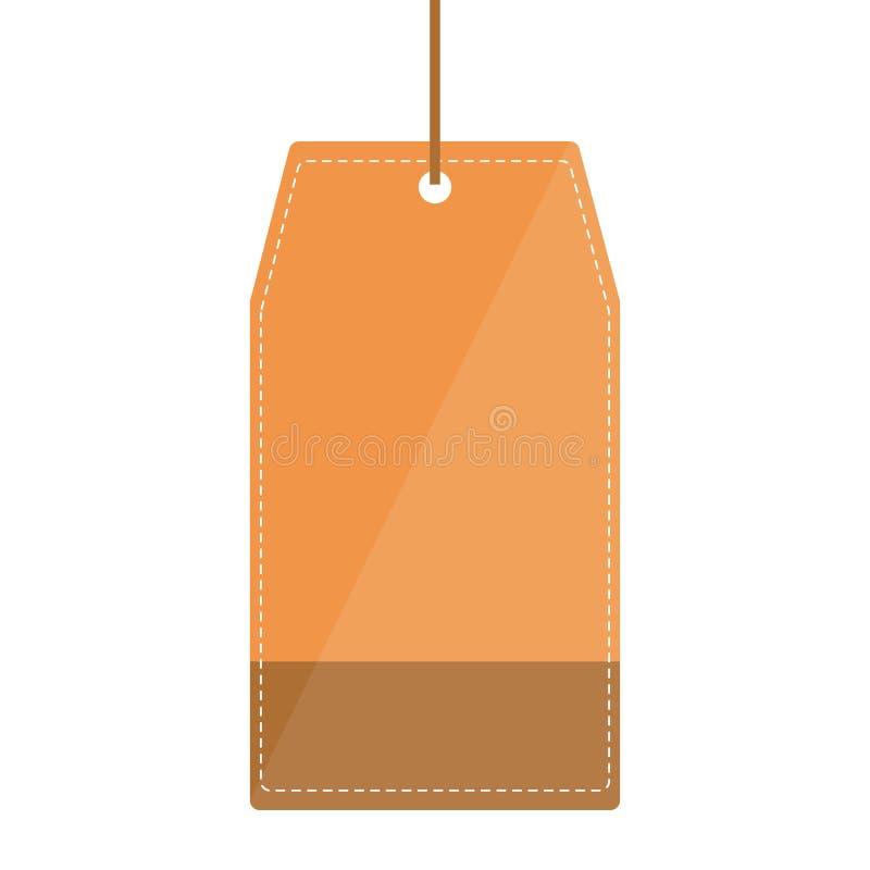 Odosobniona etykietka zakupy projekt ilustracja wektor