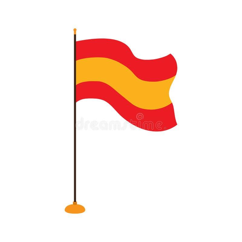 Odosobniona flaga Hiszpania ilustracja wektor