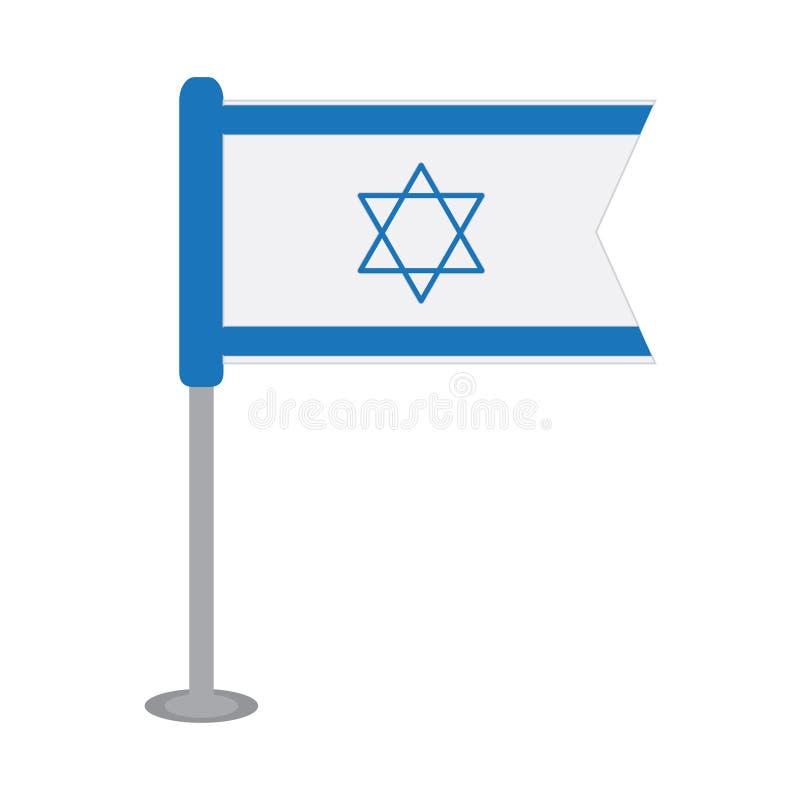 Odosobniona flaga Izrael royalty ilustracja