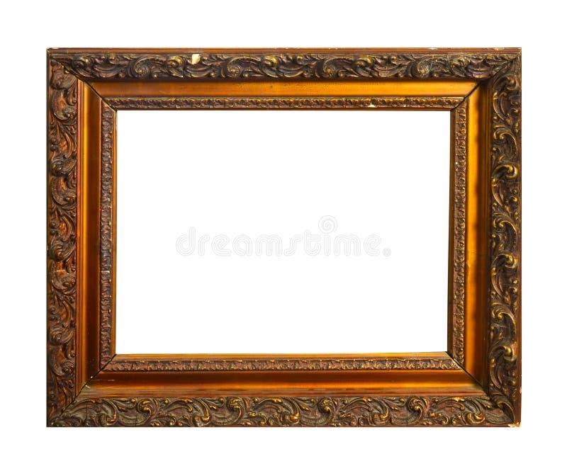 Odosobniona fotografii rama, Drewniana Antykwarska fotografii rama fotografia royalty free
