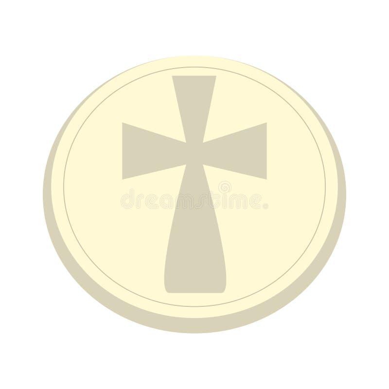 Odosobniona gospodarz ikona royalty ilustracja