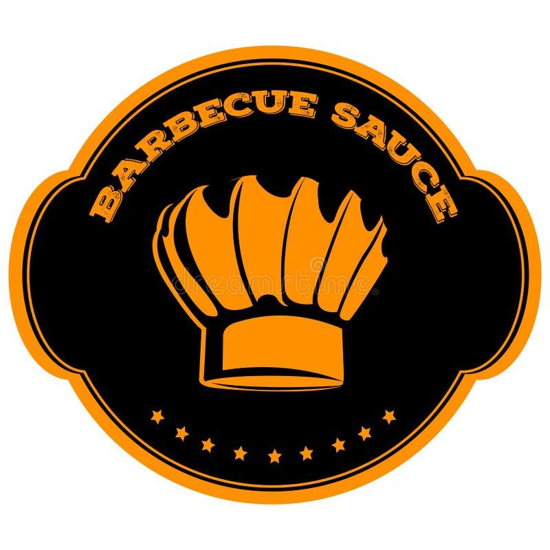 Odosobniona grill etykietka ilustracji