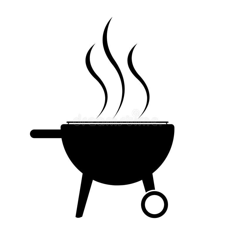 Odosobniona grill ikona royalty ilustracja