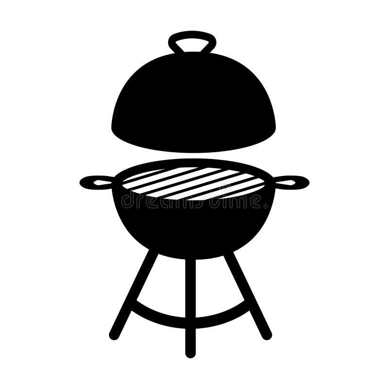 Odosobniona grilla grilla ikona ilustracji