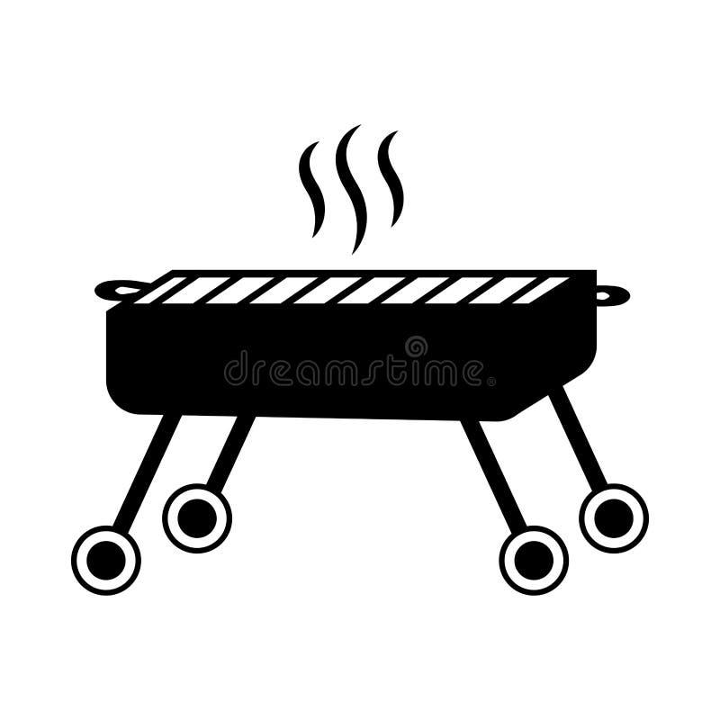 Odosobniona grilla grilla ikona royalty ilustracja