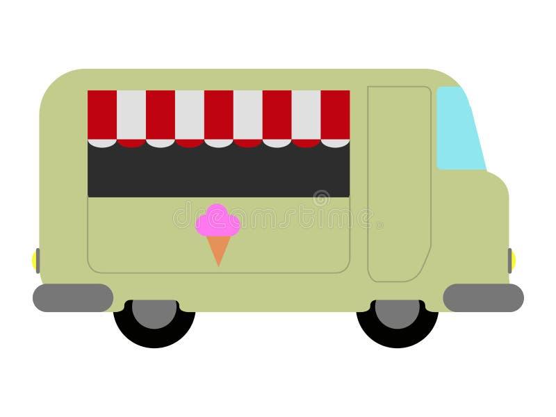 Odosobniona jedzenie ciężarówki ikona ilustracji