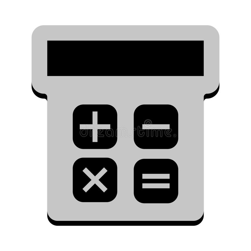 Odosobniona kalkulator ikona ilustracja wektor